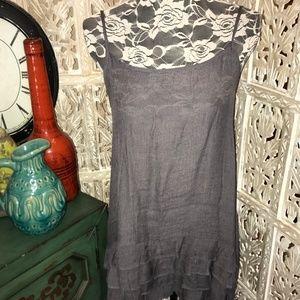New Easel Ash Gray Slip Dress Extender Ruffled Hem